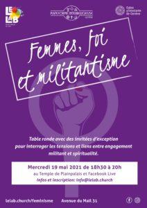 """Table Ronde événement """"Foi, femmes et militantisme"""""""